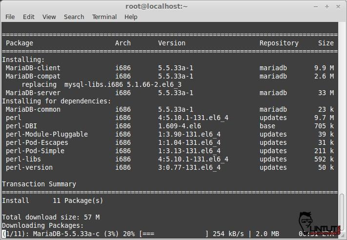Install MariaDB 5.5.33a on CentOS