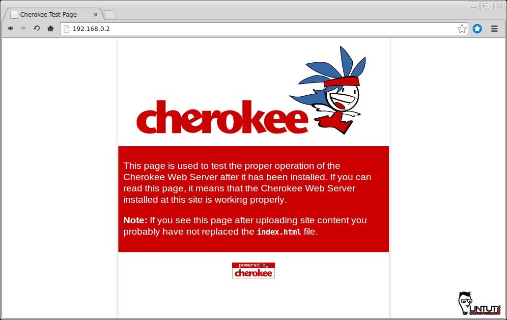 Cherokee default page