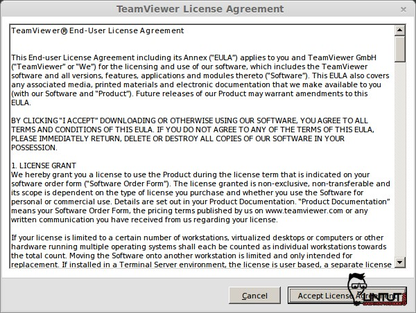 teamviewer accept agreement