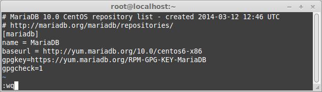 Add MariaDB 10 repository on CentOS 6.4 -32-bit