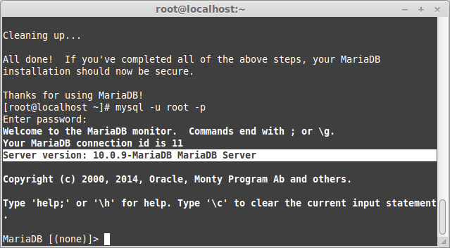 Connect to MariaDB 10.0