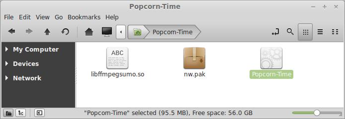 Start Popcorn Time application