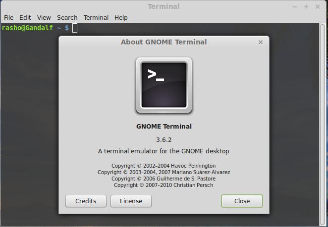 Gnome-terminal emulator