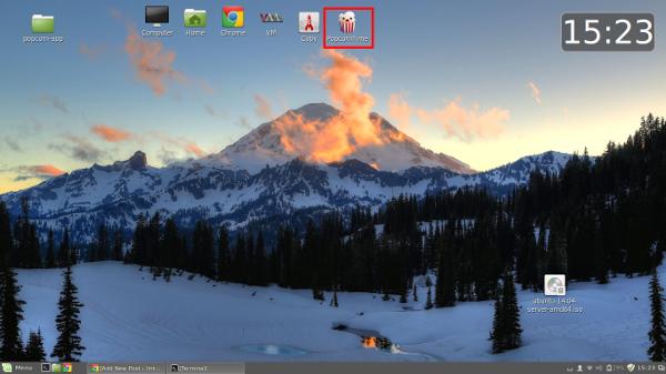Popcorntime Desktop shorcuts