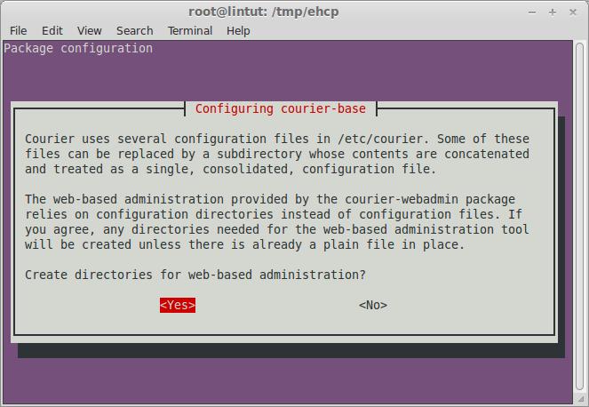 Configuring courier-base