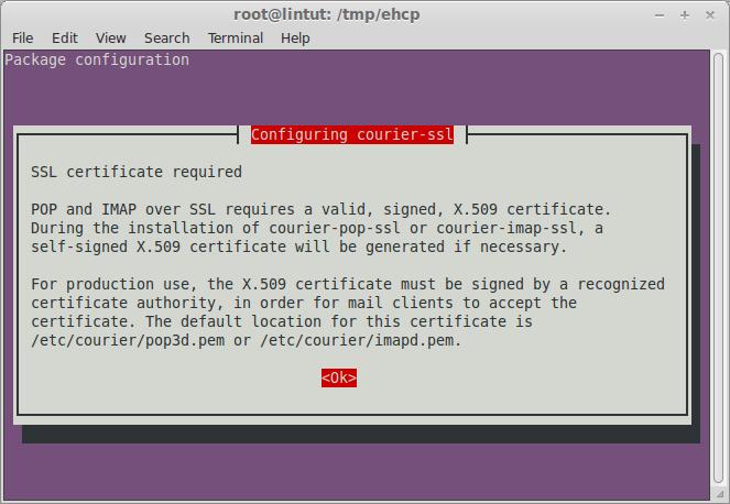 Configuring courier-ssl
