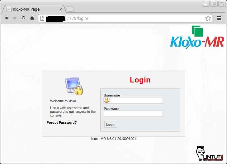 KloxoMR login page