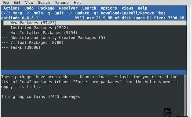 How to use Aptitude package tool on Debian, Ubuntu and Mint linux