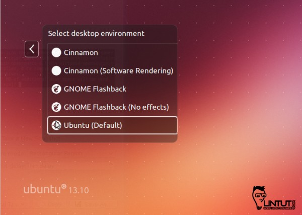 Select Cinnamon 2.0 desktop