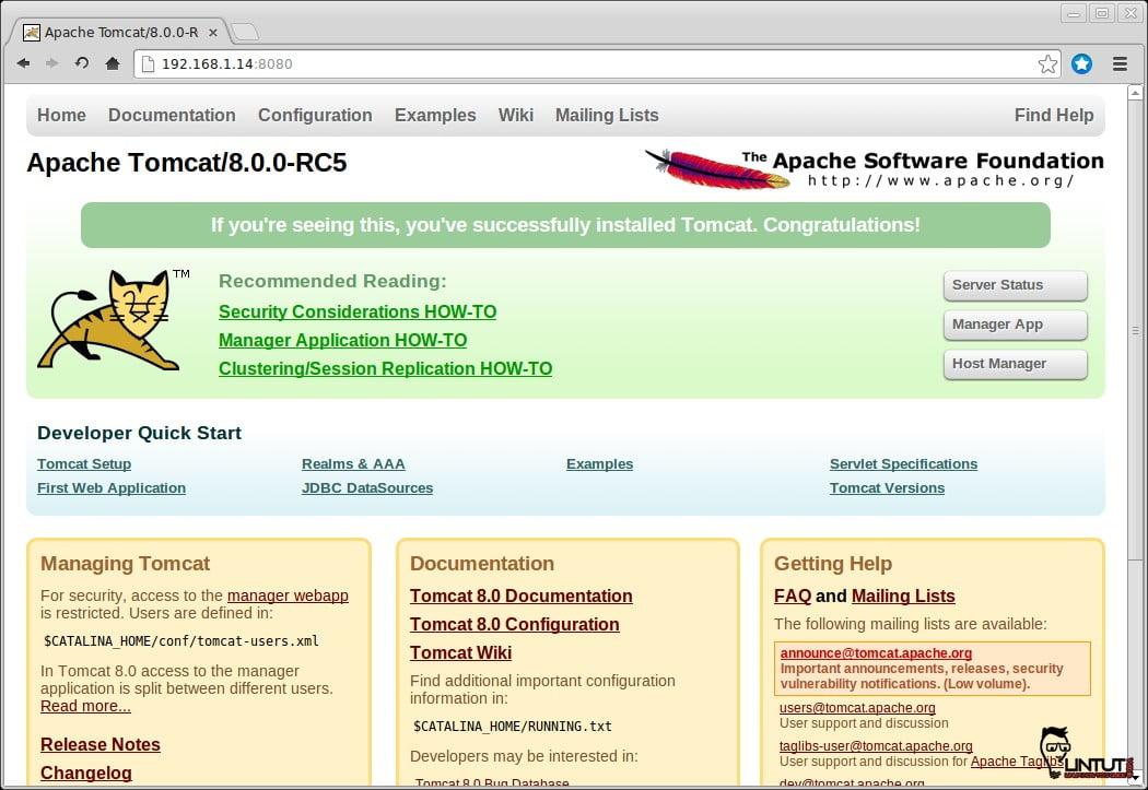 How to install Tomcat 8.0.0 RC5 on Ubuntu 12.04/12.10/13.04/13.10