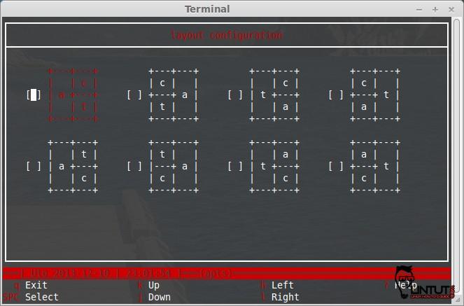 calcurse - layout configuration