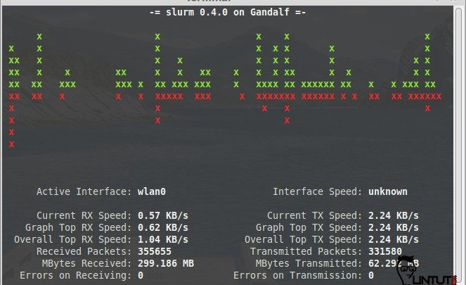 Slurm - Command line bandwidth monitoring tool for linux