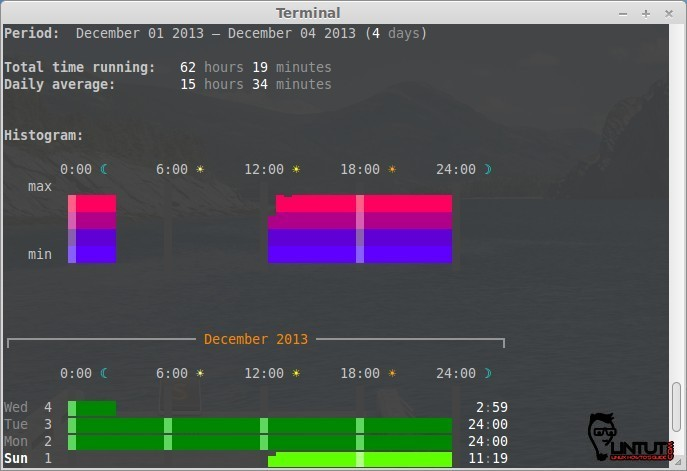 Visualize System's Activity With ranwhen Tool in Ubuntu and Mint linux