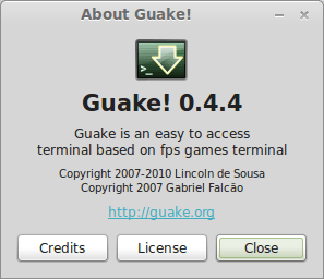 Install Guake (drop-down terminal) terminal on Ubuntu and Mint linux
