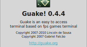 About guake screen