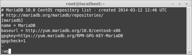 Add MariaDB 10 repository on CentOS 6.4 -32-bit