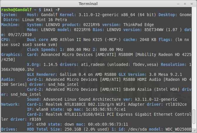 Show full hardware information
