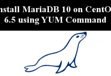 install mariadb 10 on CentOS