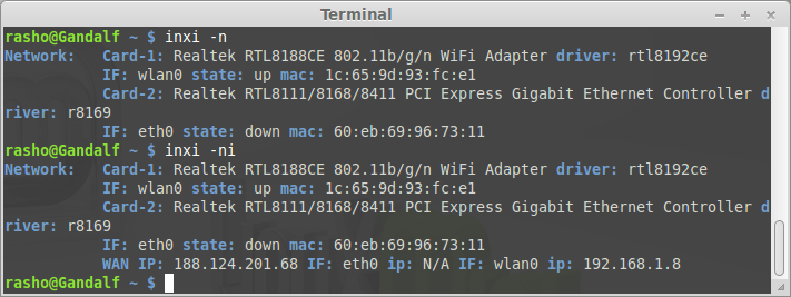 Inxi great tool to check system information on linux