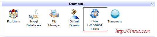 "lick on ""Cron Scheduled Task"""