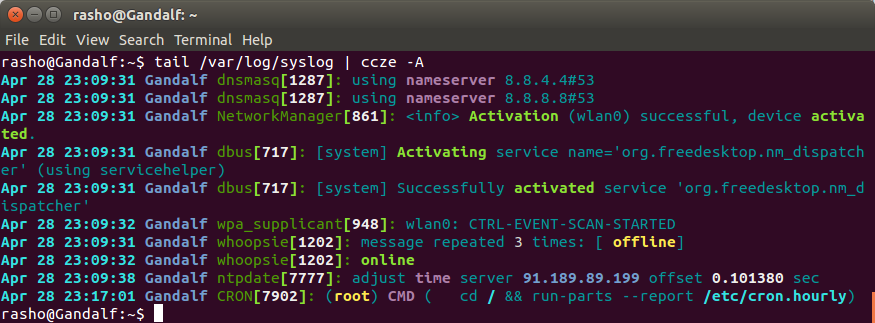 Colorize log files on CentOS and Ubuntu using ccze tool | LinTut