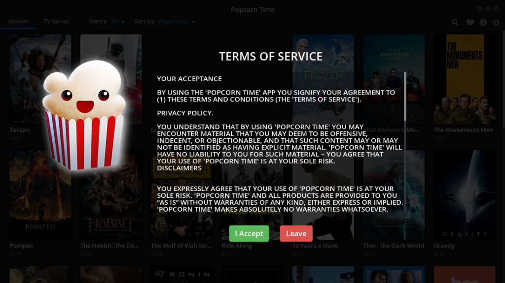 Install Popcorn Time 0310 In Ubuntu And Mint Linux Lintut