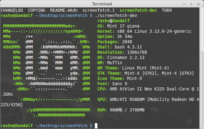 How to install ScreenFetch on CentOS, Fedora, Debian/Ubuntu, Mint and other Linux