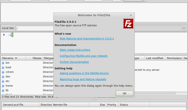 Install FileZilla on popular linux distribution | LinTut