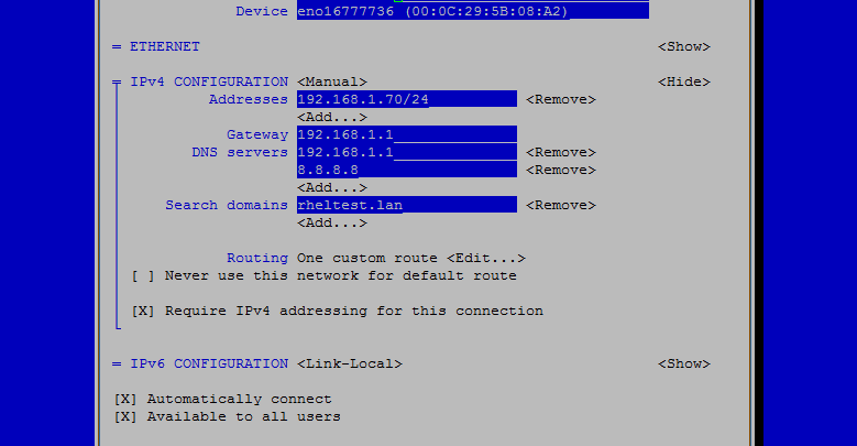 How To Configure Static Ip Address On Centos 7 Lintut