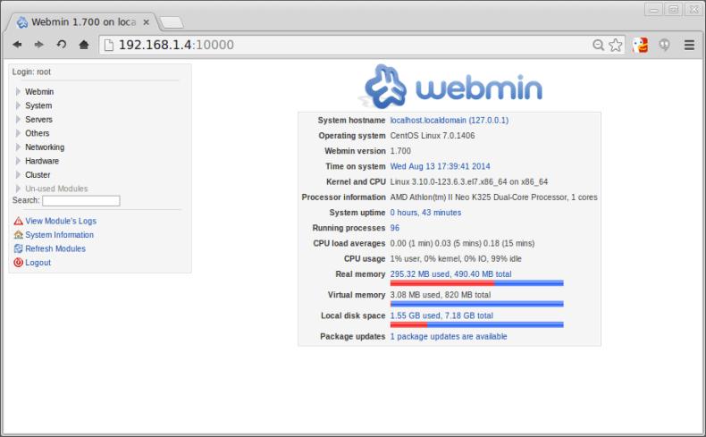 How to install Webmin on CentOS 7