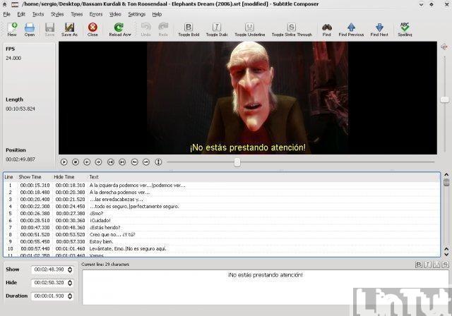 Best subtitle editor for linux | LinTut