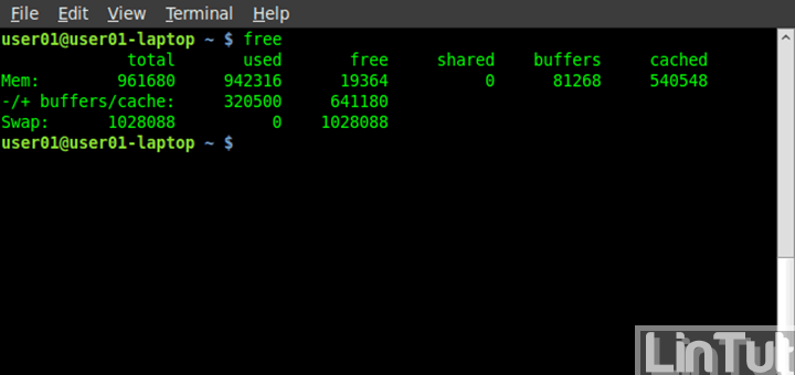 How to use free command on Linux