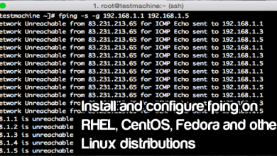 Photo of Install and use Fping app on RHEL/CentOS 6.x/7.x