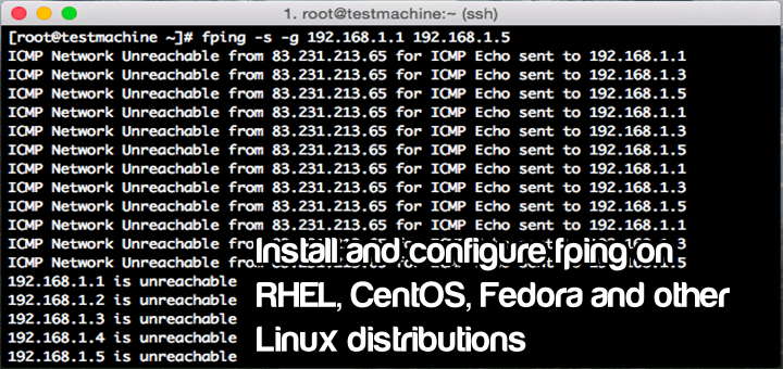 Install and use Fping app on RHEL/CentOS 6.x/7.x