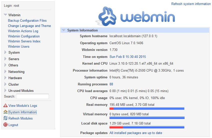 Install Webmin on Ubuntu 15.04 Server