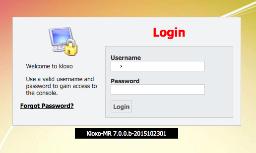 Kloxo-MR 7 login page