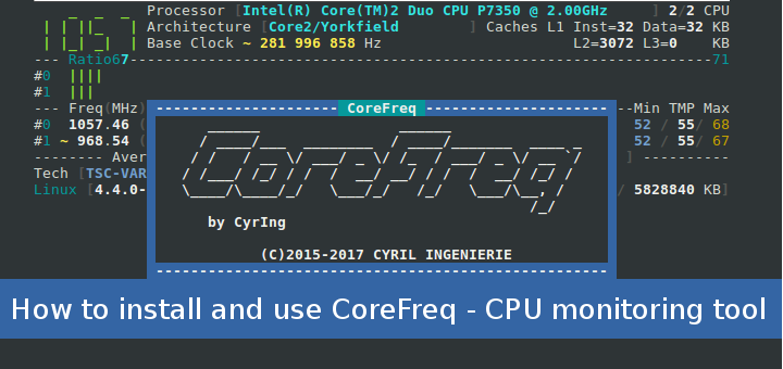 How to install and use CoreFreq – CPU monitoring tool for linux