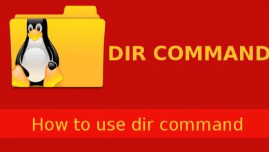 linux dir command