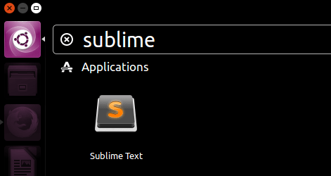 Open Sublime Text Editor