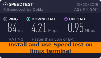 Install and use SpeedTest on linux terminal