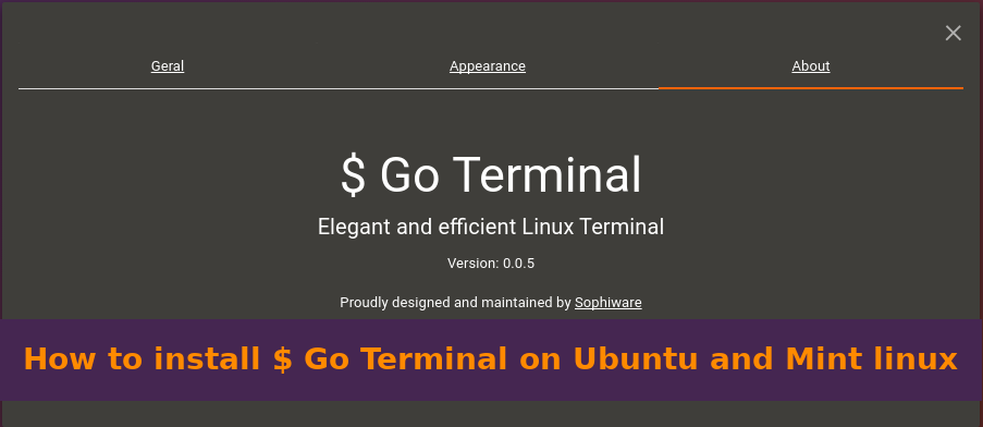 How to install Go Terminal on Ubuntu or Mint linux