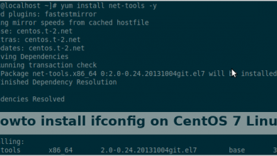 Photo of Howto install ifconfig on CentOS 7 Linux