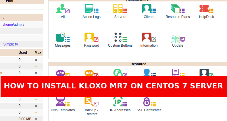 How to install Kloxo-MR7 in Centos 7 Server