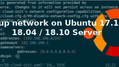 Photo of Setup static ip address on Ubuntu 17.10 / 18.04 / 18.10 Server