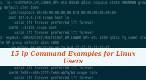 15 ip Command Examples for Linux Users