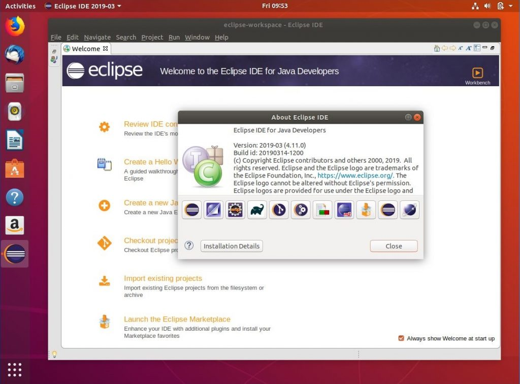 Eclipse ID on Ubuntu 18.04