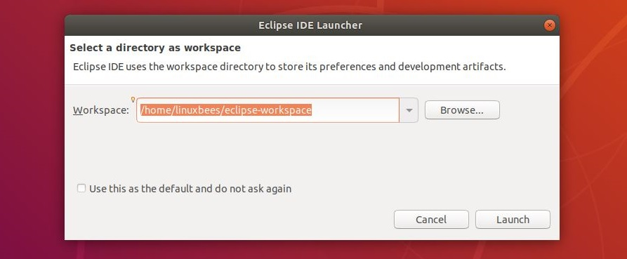 Eclipse setup workspace
