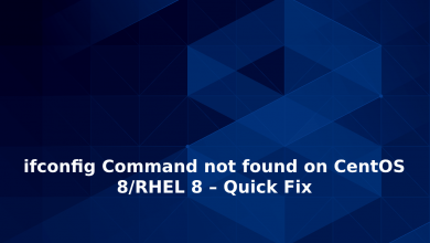 Photo of ifconfig Command not found on CentOS 8/RHEL 8 – Quick Fix