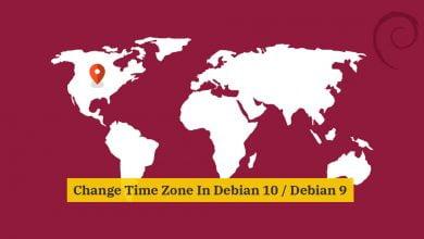 Photo of Change Time Zone in Debian 10 / Debian 9