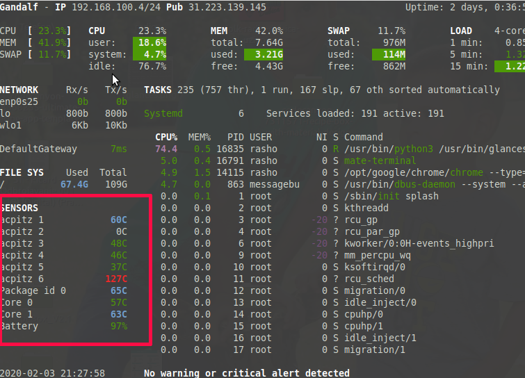 How to monitor CPU and GPU temperature in Ubuntu Linux